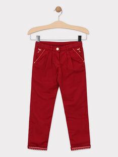 Pantalon pourpre forme carotte fille SOIFIRETTE / 19H2PFI1PANF511