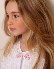 Combinaison écrue à imprimé fleuri enfant fille TYFOETTE / 20E2PFJ2CBL000