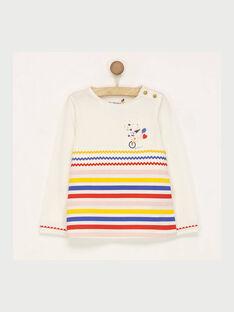 Tee shirt manches longues écru RAFOMIETTE / 19E2PFC1TML001