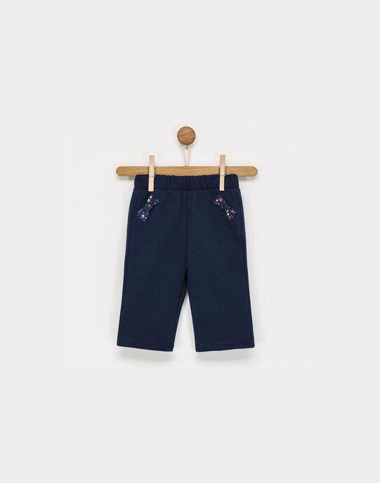 Bas de jogging bleu marine PAENBAS / 18H1BFD1JGB705