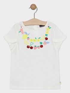 T-shirt écru fille  TUBETTE / 20E2PFH1TMC001