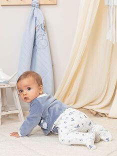 Grenouillère et gilet blanc et bleu naissance garçon BOBBY / 21H0NG41ENS216