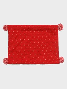 Snood rouge jacquard lurex fille SOIDONETTE / 19H4PFI1SNO050