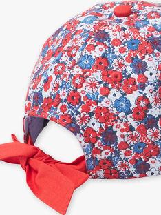Casquette bleue et rouge à imprimé fleuri enfant fille ZAINOETTE / 21E4PFR2CHA020