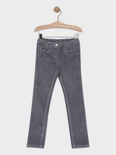 Pantalon coupe SLIM en velours fille.  SAVELETTE 3 / 19H2PFH3PANJ908