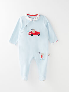 Dors bien en interlock bleu bébé garçon VELUBIN / 20H5BG23GRE020