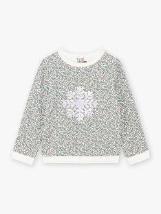 Sweatshirt imprimé à motif flocon à sequins réversibles enfant fille BLASWETTE / 21H2PFO1SWE001