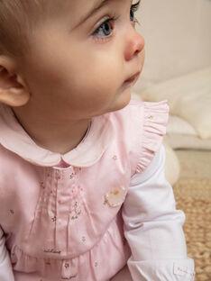 Ensemble body, barboteuse et collants bébé fille ZOZAN / 21E0CFG1ENS000