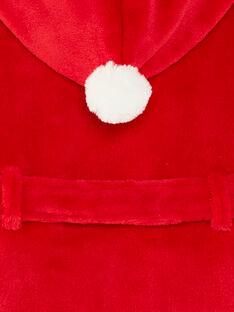 Robe de chambre à capuche rouge petit enfant garçon  VEFOAGE / 20H5PGK1RDCF528