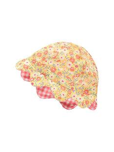 Chapeau rose et jaune RAOPHELIA / 19E4BFH1CHA404