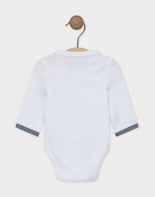 Body jour écru en rib avec col chemise SYAYDEN / 19H0CG11BOD000