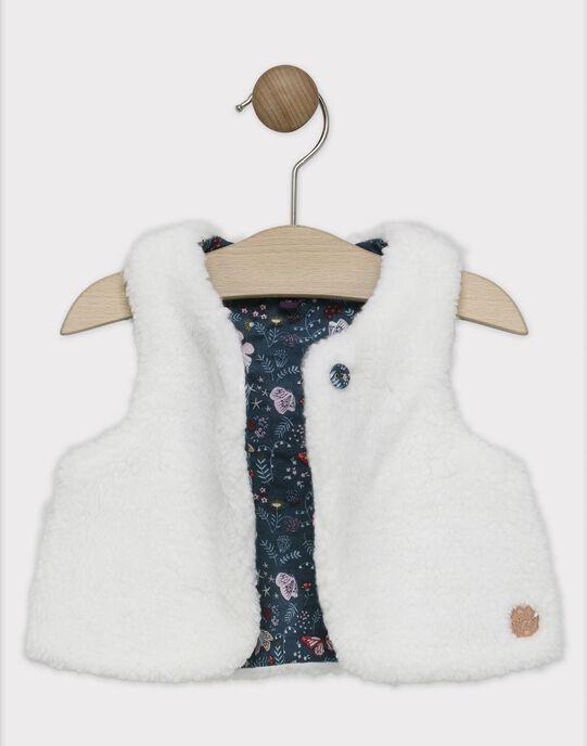 Cardigan sans manches en fausse fourrure bébé fille SALOLA / 19H1BFC1CSM001