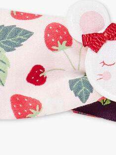 Bandeau imprimé fraise patch souris  ZAAGATHE / 21E4BFJ1BAN301