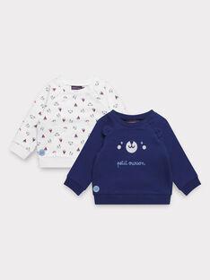 Lot de deux sweats bébé garçon   TIVALENTIN / 20E1BG91LDS001