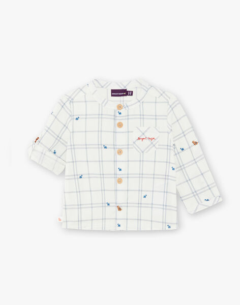 Chemise à carreaux avec manches retroussables  ZAELTON / 21E1BGB1CHM001