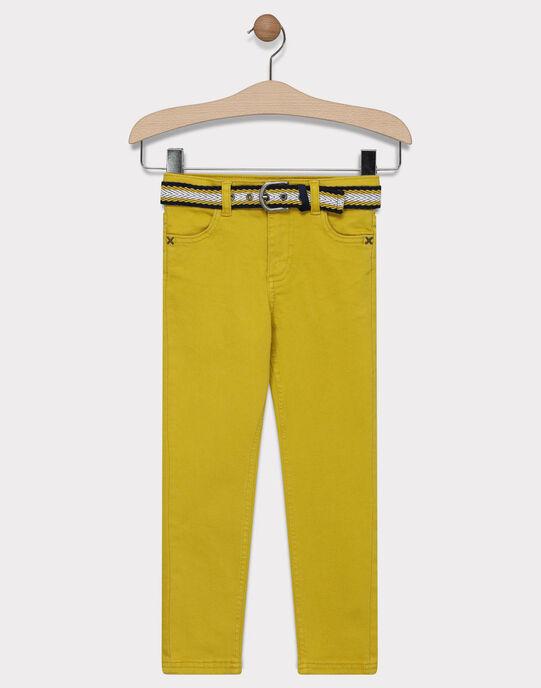 PANTALON coloris jeune moutarde. SAZAGE / 19H3PG43PANB106