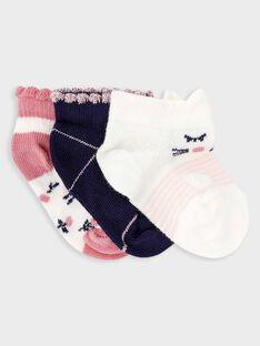 Lot de 3 paires de chaussettes basses bébé fille  TIRACHEL / 20E4BF92LCBD318