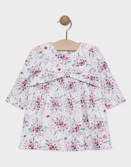 Robe imprimée en velours côtelé bébé fille  SANAIA / 19H1BFE3ROB001