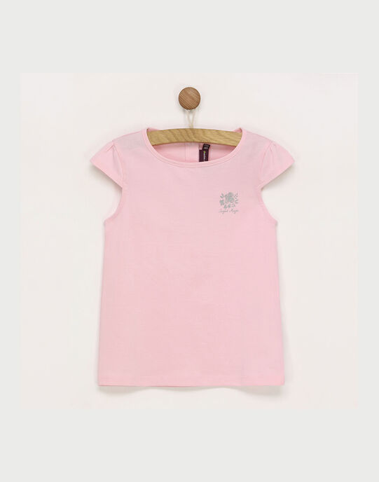 Tee shirt manches courtes rose RUFAPETTE 4 / 19E2PFP2TMC321