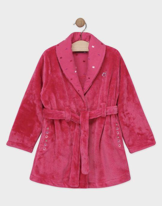 Robe de chambre rose en fausse fourrure petite fille SYMOVETTE / 19H5PFK1RDCD328