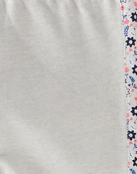 Bas de jogging gris avec détails fleuris VEBAJETTE / 20H2PF71JGBJ920