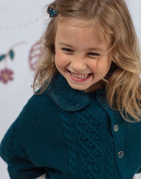 Poncho bleu canard enfant fille BOFIONETTE / 21H2PF91PON714