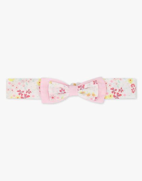 Bandeau rose imprimé fleuri bébé fille TALOUVE / 20E4BFJ1BAN000