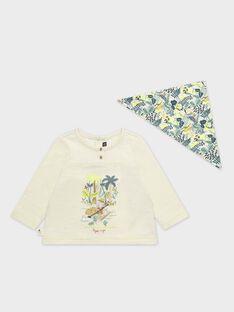Tee-shirt bébé garçon avec bavoir imprimé  TAAIME / 20E1BGB1TML632