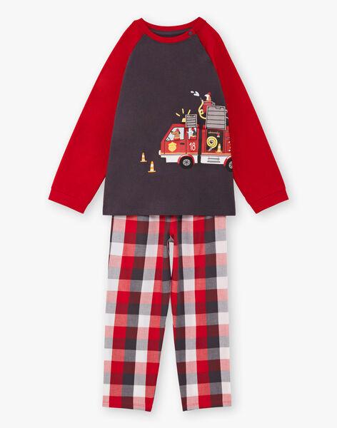 Pyjama manches longues animation camion de pompiers enfant garçon BEFIRAGE / 21H5PG66PYJ942