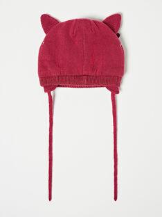 Bonnet violet en tricot  VAMINIE / 20H4BFJ1BON310