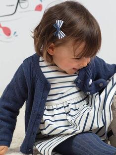 Cardigan bleu pétrole et peluche chat bébé fille BAKLELIA / 21H1BFL1CAR715