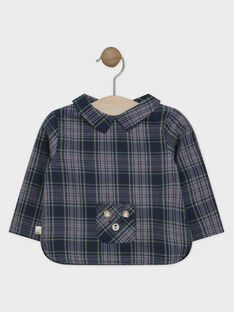 Chemise en toile de coton à carreaux bébé garçon  SAMAURICE / 19H1BGC2CHM705