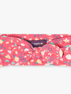 Bandeau rose fuchsiaimprimé fleuri bébé fille TASAM / 20E4BFQ1BANF510