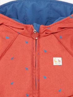 Parka bleue et rouge réversible ZUBOBO / 21E1BGM1PARC230