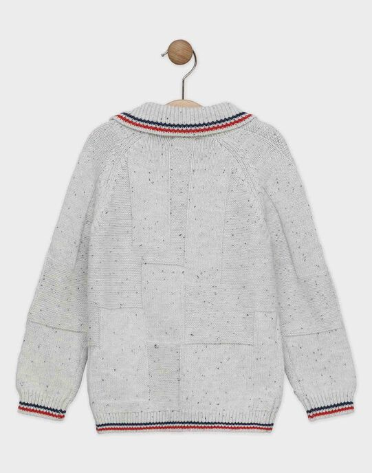 Pull écru en tricot garçon SEMONTAGE / 19H3PGE1PUL811
