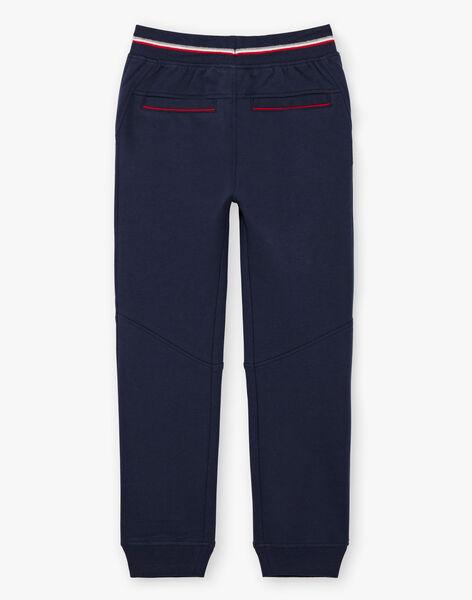 Pantalon de jogging bleu marine enfant garçon BARIAGE1 / 21H3PG33JGB070