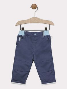 Pantalon bébé garçon bleu gris   SAORVAL / 19H1BGE2PANJ901