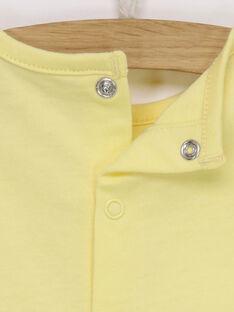 Tee shirt manches longues jaune RYABDEL / 19E0CG11TML010