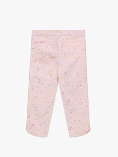 Pantacourt rose imprimé fleuri enfant fille TYPOETTE / 20E2PFJ1PCO321
