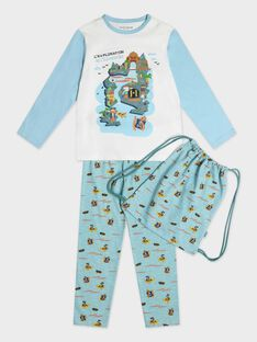 Pyjama bleu petit garçon  TEPIRAGE / 20E5PG76PYJ001
