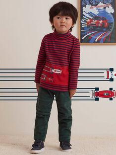 Pantalon vert à poches enfant garçon BOATAGE / 21H3PGM1PAN060