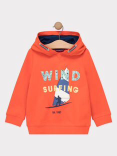 Sweat shirt à capuche orange garçon  TUSITAGE 2 / 20E3PG92SWEE400
