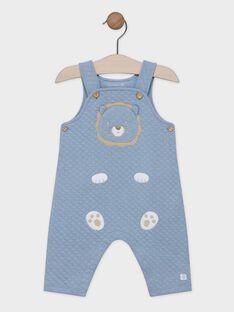 Salopette bleu en tubic bébé garçon SYADAM / 19H0CG12SAL702