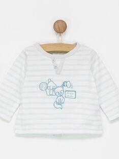 Tee shirt manches longues bleu ciel PETIFER / 18H0CGN1TML020
