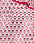Robe asymétrique rose imprimé fleuri enfant fille TIUZETTE / 20E2PFQ1RBSD317