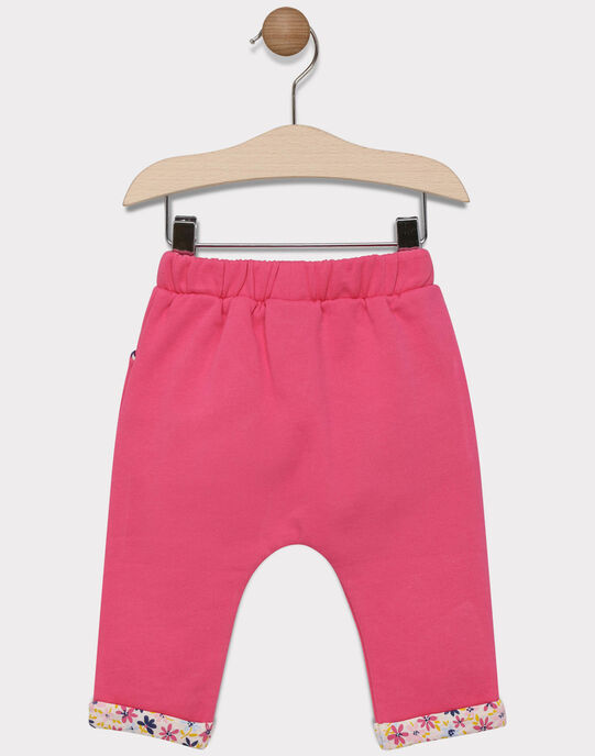Pantalon de jogging rose bébé fille SAERNESTI / 19H1BF41JGB305