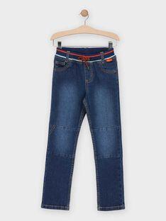 Jeans en denim bleu moyen garçon   TUJEANAGE 1 / 20E3PG92JEAP272