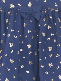 Short de bain bleu marine à imprimé fleuri enfant fille ZAILUETTE / 21E4PFR1SDB216