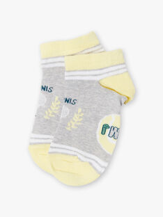 Chaussettes basses grises motifs fantaisie bébé garçon ZETRAGE / 21E4PGO1SOBJ920