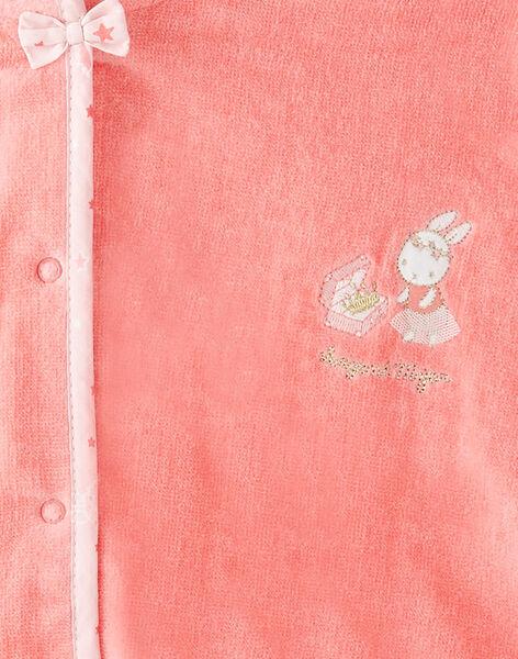 Cape de bain en éponge bébé fille VEMARIE / 20H5BF21CDB404